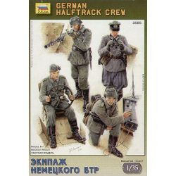 Zvezda German Halftrack Crew (II.vh.) - makett