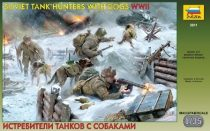 Zvezda Soviet Tank Hunters with dogs
