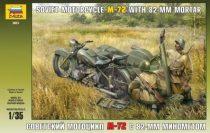 Zvezda Soviet Motorcycle M-72 with Mortar