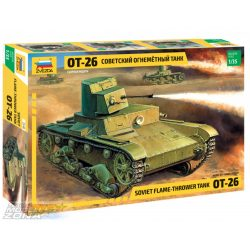 Zvezda 1:35 T-26 Flamethrower - makett