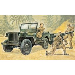 Italeri Willys MB Jeep with Trailer - makett