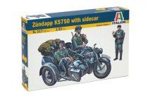 Italeri ZUNDAPP KS750 WITH SIDECAR