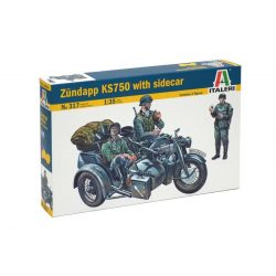 Italeri ZUNDAPP KS750 WITH SIDECAR - makett