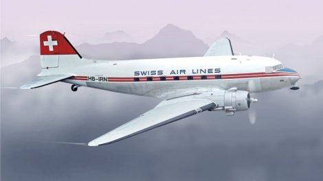 Italeri DC-3 Swissair