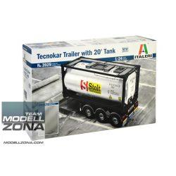Italeri - 1:24 TECNOKAR TRAILER WITH 20' TANK - makett