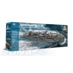 Italeri - 1:35 Schnellboot Typ S-38 /4.0cm Flak 28- makett