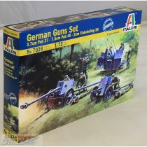 Italeri German Guns Set: PAK35-PAK40-FLAK38