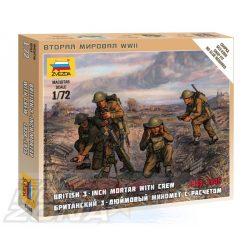 Zvezda British Mortar w/crew 1939-42 - makett