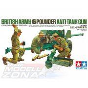 Tamiya - 1:35 Brit. 6Pfund PAK m. Mann. (3) - brit löveg 3 figurával