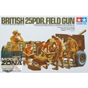 Tamiya - 1:35 British 25 pound Field Gun - makett