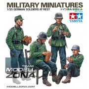 Tamiya - 1:35 WWII Fig.-Set Dt.Soldaten i.Ruhe (4) - makett