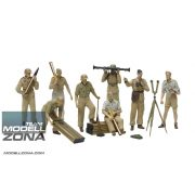 Tamiya - 1:35 Fig.-Set DAK Luftwaffe Artillerie - makett