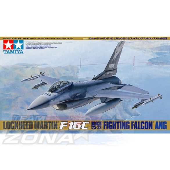 Tamiya Lockeed F-16C Fighting Falcon ANG - makett