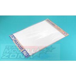 Tamiya - 5 db fehér műanyag lap - 0.3 mm vastagság