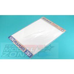 Tamiya - 2 db fehér műanyag lap - 1.0 mm vastagság