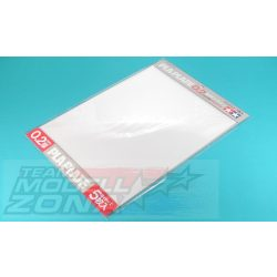 Tamiya - 5 db átlátszó műanyag lap - 0.2 mm vastagság