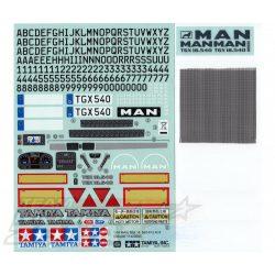 Tamiya matrica szett MAN TGX 18.540 56329