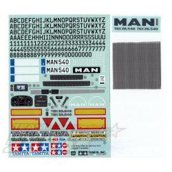 Tamiya matrica szett MAN TGX  26.540