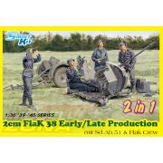 Dragon - 1:35 2cm FlaK 38 Early/Late Production - makett