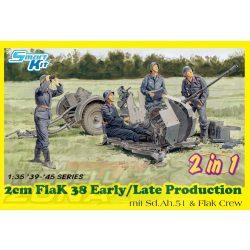 Dragon - 1:35 2cm FlaK 38 Early/Late Production - makett