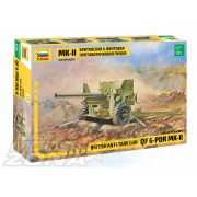 Zvezda - 1:35 British anti Tank Gun 6 pdr - makett