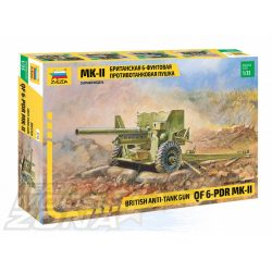 Zvezda - 1:35 British anti Tank Gun 6 pdr - makett