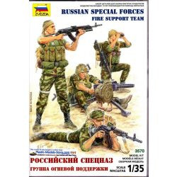 Zvezda Russian Special Forces, Fire support Team - makett