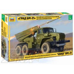 Zvezda - 1:35 BM-21 Grand Rocket Launcher - makett