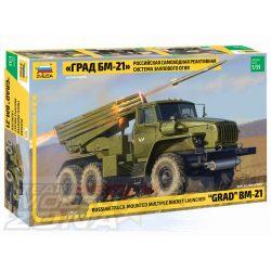 Zvezda - 1:35 BM-21 Grand Rocket Launcher - makett