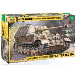 Zvezda - 1:35 German Tank Destroyer Elefant - makett