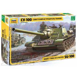 Zvezda - 1:35 SU-100 Soviet tank destroyer WWII - makett