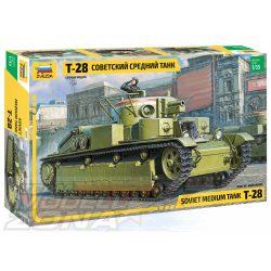 Zvezda - 1:35 T-28 Heavy Tank - makett