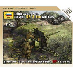 Zvezda British QF 2pdr Anti-Tank Gun with Crew - makett