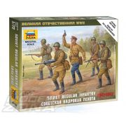 Zvezda Soviet Regular Infantry 1941-42 - makett
