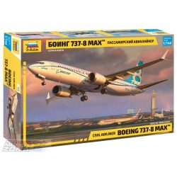 """ZVEZDA 1:144  """"Boeing 737-8 MAX"""" - utasszállító repülő - makett"""