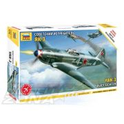 Zvezda Airplanes Yak-3 Soviet Fighter - makett
