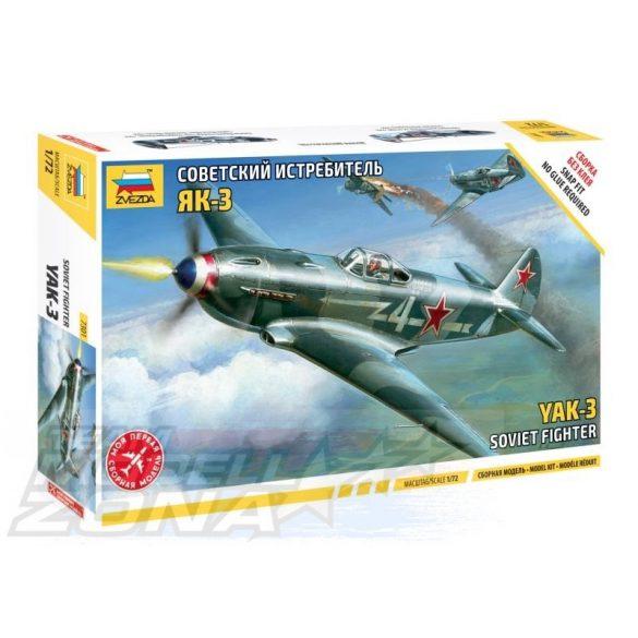 Zvezda Airplanes Yak-3 Soviet Fighter - makett