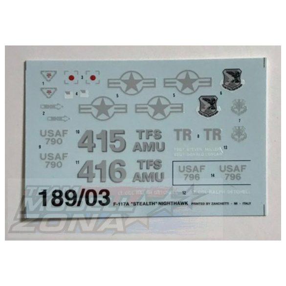 Italeri F-117A STEALTH NIGHTHAWK - makett (§)