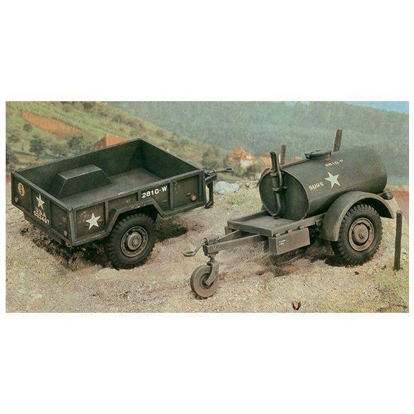 Italeri TankTrailer+M101 KargoTrailer - makett