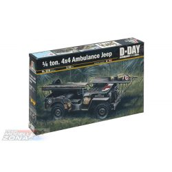 Italeri 1/4 ton. 4x4 AMBULANCE JEEP - makett