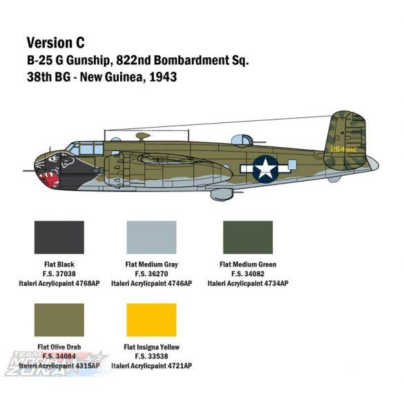Italeri 1:48 B-25G Mitchell - makett