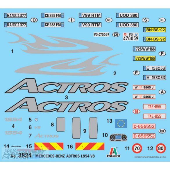 Italeri Mercedes-Benz Actros 2003- makett