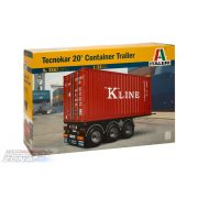 Italeri 1:24 20' Container Trailer- makett