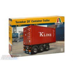 Italeri 1:24 20' Container Trailer- makett
