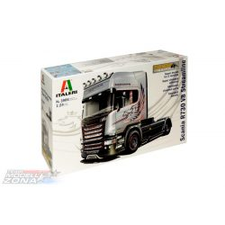 Italeri SCANIA R730 V8 STREAMLINE - SILVER GRIFFIN- makett