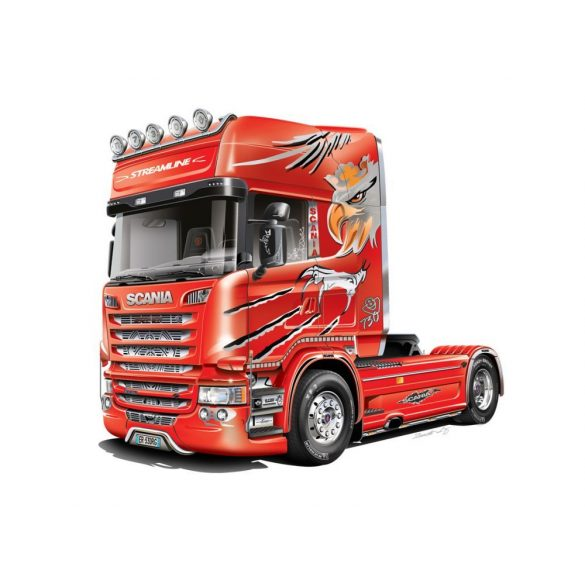 Italeri - 1:24 SCANIA R730 V8 STREAMLINE - SILVER GRIFFIN- makett