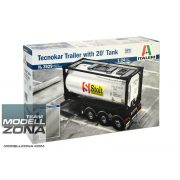 Italeri - 1:24 TECNOKAR TRAILER WITH 20' TANK - makett