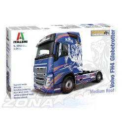 Italeri - 1:24 VOLVO FH4 Globetrotter Medium Roof - Kamion Makett