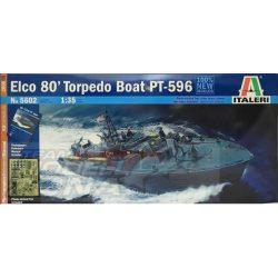 Italeri ELCO 80' PT - 596 TORPEDO BOAT- makett