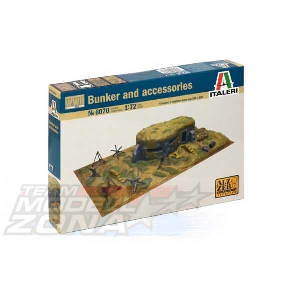 Italeri BUNKER AND ACCESSORIES - makett
